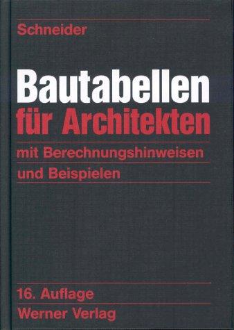 Bautabellen für Architekten