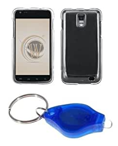 Cerhinu Premium Clear Shield Hard Case Cover + ATOM LED Keychain Light for Samsung Galaxy S II Skyrocket (AT&T)