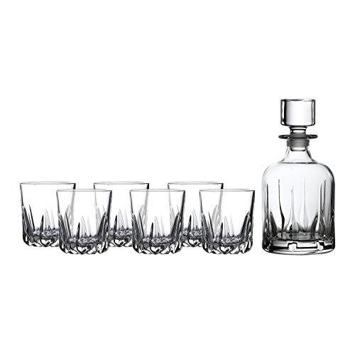(Royal Doulton 40025818 Mode Whiskey Decanter & Tumbler Set/6, Clear)