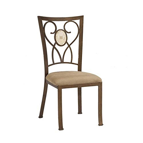 Back Coat Powder - Hillsdale Brookside Oval Fossil Back Dining-Chairs, Brown Powder Coat Finish, Set of 2