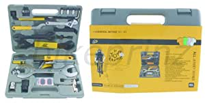 Tour de france - Maletín de herramientas para reparación de bicicletas (44 piezas) Maletín de herramientas para reparación de bicicletas.