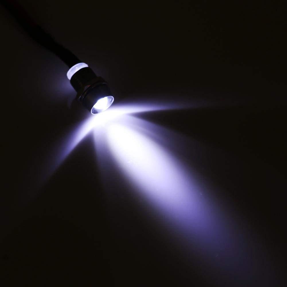 Barca e Altri Veicoli Universali 12V 8mm Spia di Controllo Driver Pannello LED per Furgone Ejoyous 4pcs Luce di Segnalazione LED in Metallo Luce Blu