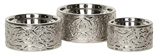 (Unleashed Life Savannah Collection- Stainless Steel Bowl for Small-Large Dog/Cat)