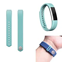 For Fitbit Alta,Haoricu Silicone Watch Replacements Classic Band Strap + Band Clasp (Light Blue)