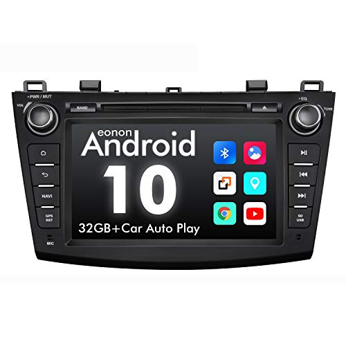 2020 Upgraded- Android Car Stereo Android 10 Double Din Car Stereo, Eonon Car Radio Applicable to Mazda 3 Series Support Apple Carplay/Android Auto/Fast Boot/DVR/Backup Camera/OBDII -8 Inch -GA9463