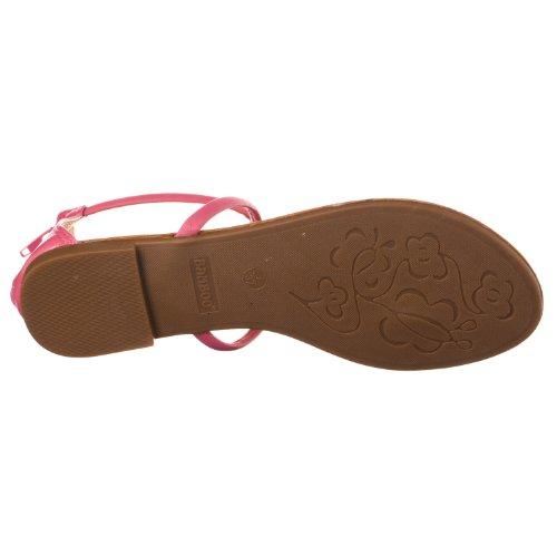 Bambou Femmes Grayson Boucle Métallique T-strap Sandale Plate Fuchsia