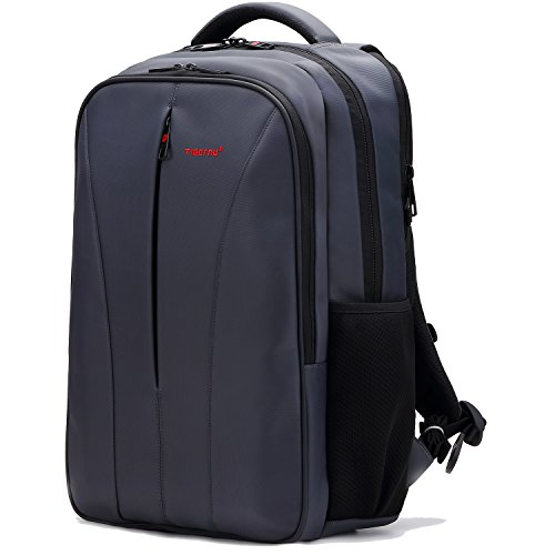 Price comparison product image Uoobag Business Laptop Backpack with USB Charger Port Fits 15.6 16 Inch Travel Bag for Women & Men Grey