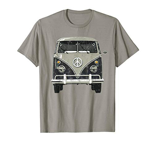 Vintage 1960s Hippie Micro Bus Van T-Shirt]()