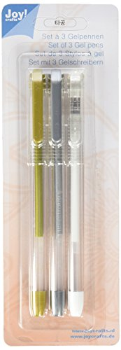 Joy! Crafts Colored Gel Pen, White Gold and Silver