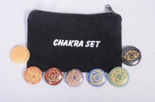 Jet Engraved Chakra Symbolizing Chakras