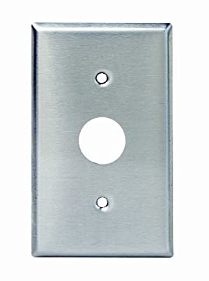 Leviton 84071-40 1-Gang Key Lock Power Switch Device Switch Wallplate, Standard Size, Spanner Screws and Tool, Device Mount, Stainless Steel