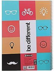 دفتر بي ديفرنت A4 من ساسكو برافو، 100 ورقة - أخضر
