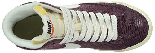 Nike Kvinner Blazer Mid Semsket Vntg Hi Topp Trenere 518171 Joggesko Sko Skurk Rødt Seil Rosa Makt 611