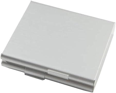 Lcxligang Estuche de Cigarrillos de Metal for Hombres, Estuche de Cigarrillos, Tapa Doble, Regalo Abierto for Hombres (Puede acomodar 20 Cigarrillos) (Color : Silver): Amazon.es: Hogar