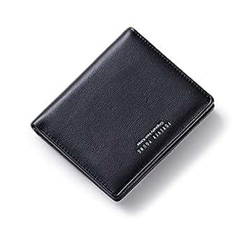 AnnabelZ Women Wallets Small Bifold Leather Pocket Wallet Ladies Mini Short Purse (Black1)