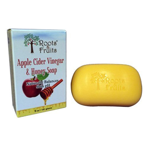 (2 Packs of Roots And Fruits Bar Soap - Apple Cider Vinegar And Honey - 5 Oz )