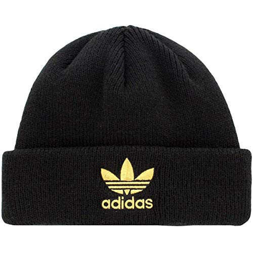 Adidas Womens Originals Trefoil Ii Knit Beanie Black/Gold ...