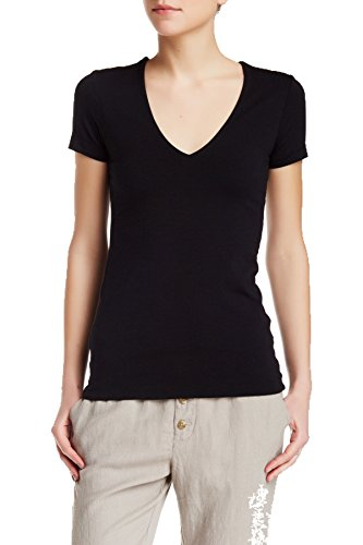 James Perse Short Sleeve V-neck Tee - 1