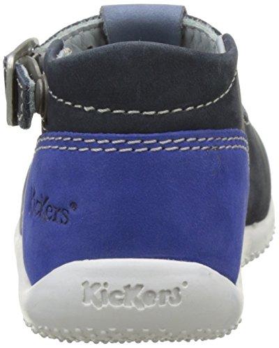 Kickers Bonbek - Primeros Pasos de Otra Piel Bebé-Niñas Bleu (Marine Bleu Bleu)