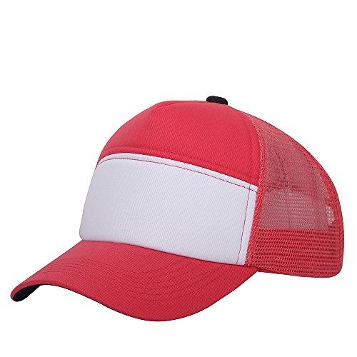 oriental spring - Gorra de béisbol - para hombre Pink-black Top Button