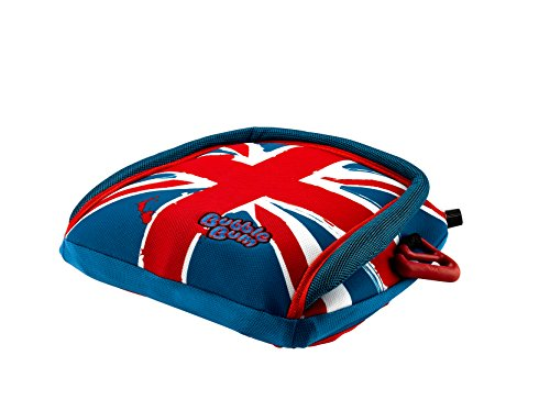BubbleBum Inflatable Backless Booster Car Seat, Union Jack