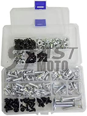 Red /& Silver 9FastMoto Full Motorcycle Fairings Bolt Screw Kits for 1997-2007 Yamaha YZF 1000R 97 98 99 00 01 02 03 04 05 06 07 Aluminium Screws Fastener Clips