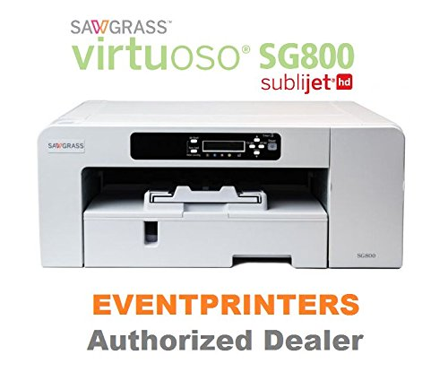 Sawgrass Virtuoso SG800 Printer - BUNDLE - with complete set of SUBLIJET HD inks and 110 sheets of sublimation paper ''Made in Japan'' size 8.5 x11'' by Sawgrass and Eventprinters