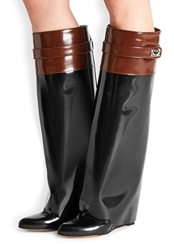 GIVENCHY SHARK LOCK TWO TONE ORIGINAL LEATHER BOOTS SIZE 5  Amazon.co.uk   Shoes   Bags 506ae7d4c