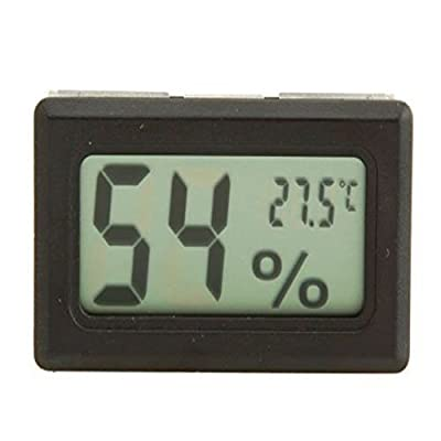 Generic Mini Digital Temperature Humidity Meter Gauge Thermometer Hygrometer Lcd Degree Celsius Display Black