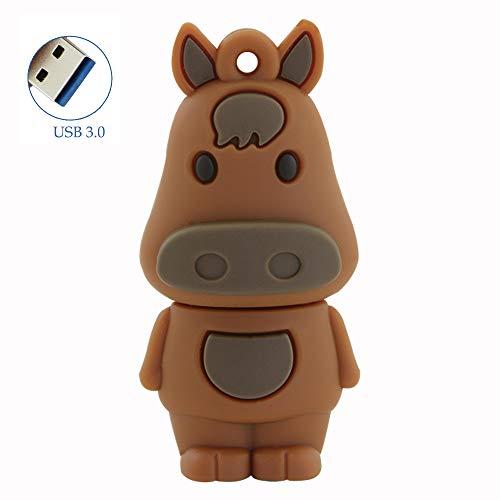 (32GB USB 3.0 Flash Drive Cute Cartoon Pendrive Chinese Zodiac Animal Horse Shape Flash Disk High Speed Jump Drive Thumb Drive Memory Stick U Disk Novelty Gift)