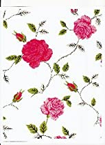 Manchester Rose Vinyl Tablecloth, 60x104 Oval