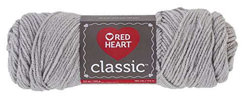 Red Heart E267.0412 Classic Yarn, (Classic Silver Heart)
