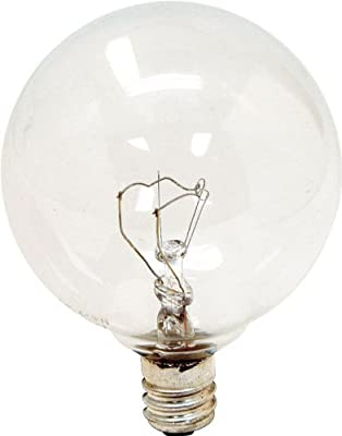 GE Lighting 17730 40-Watt Candelabra G16.5 Globe Bulbs, Crystal Clear