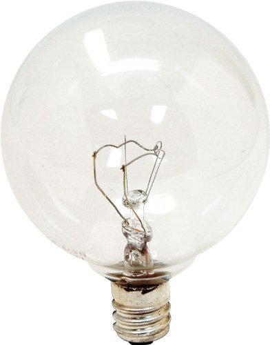 (Ge Decorative Globe Bulb 40 W 320 Lumens G16-1/2 Candelabra 3 in. Clear Card 2 Count, Pack of 6 (Total 12))