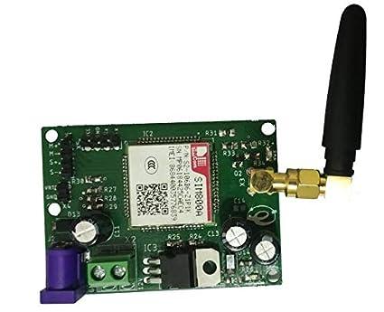 Embeddinator's GSM800A Simcom Module & GPRS Modem with Finger Antenna for  Raspberry Pi, Arduino, ARM, DSP, AVR, PIC, 8051