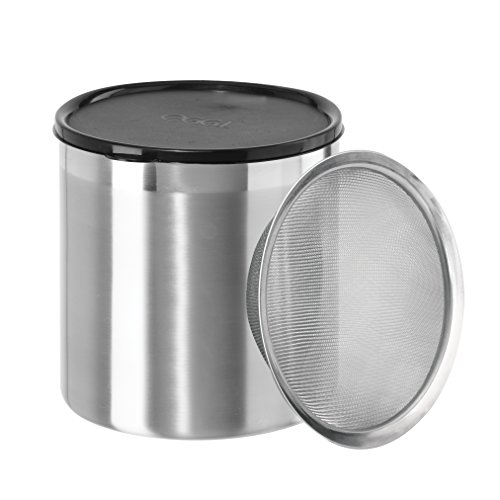 Oggi 7347 Jumbo Grease Can, 4 Quart, Stainless - smallkitchenideas.us