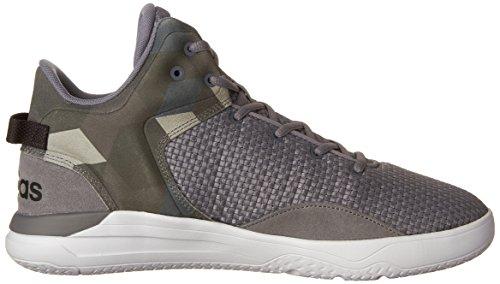 adidas Männer Cloudfoam Revival Mid Basketballschuhe Grau / Tech Grey / Schwarz