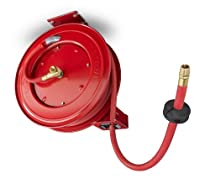 TEKTON 46791 Retractable Air Hose Reel with 50-Feet by 1/2-Inch Goodyear Rubber Air Hose [Discontinued]