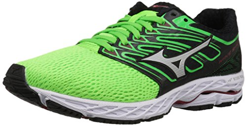 Shoes Racing Mizuno (Mizuno Running Men's Wave Shadow Running-Shoes,Green Slime/White,14 D US)