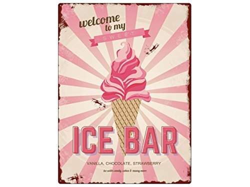 Pizarra METALLSCHILD diseño ICE BAR helado el sol del verano ...