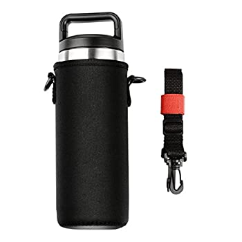 YookeeHome Neoprene Water Bottle Sleeve for 18oz YETI Tumbler with Removable Shoulder Strap, Insulation Bottle Holder for YETI