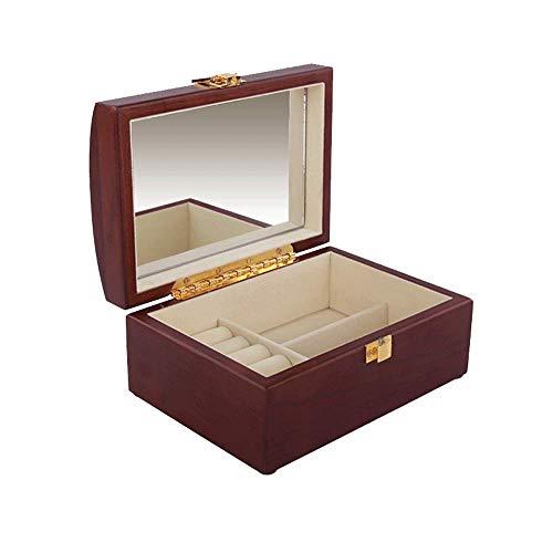 Jumedy Caja de Almacenamiento de Joyas - Caja de Almacenamiento de cosméticos Antiguos de Madera Maciza Europea (Color :...