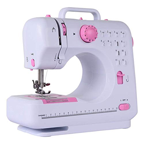 Costway Sewing Machine Household Multifunction Double Thread and Speed Free-Arm Crafting Mending Machine
