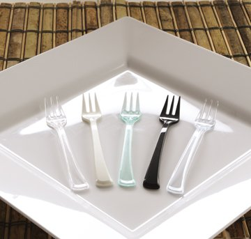 EMI Yoshi Koyal Mini Forks, 4-Inch, Clear, Set of 500