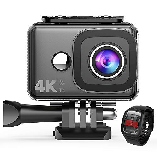 TEC.BEAN 4K Action Camera WiFi 14MP Ultra HD Waterproof Sports Cam 148ft/45M Underwater Camera with 170 Degree Wide Angle Lens and 2.4G Remote, Rechargeable Battery and Accessories Kits TEC.BEAN