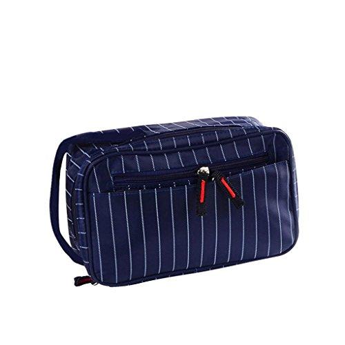 Teresamoon Portable Pen Holder Pencil Pouch Cosmetic Bags (Blue)