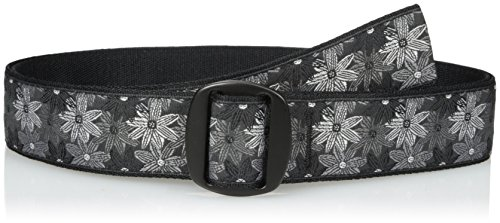 (Bison Designs Women's Manzo Belt with Anodized Aluminum Buckle, Flower, Large/42-Inch )
