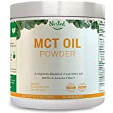 100% C8 MCT Oil Powder 454g   Zero Net Carb (Keto Diet, Vegan Friendly) Medium Chain Triglycerides + Prebiotic Acacia Fiber for Energy Boost and Healthy Gut   Mix in Coffee, Smoothies, Shakes   16 oz