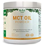 100% C8 MCT Oil Powder 454g | Zero Net Carb (Keto Diet, Vegan Friendly) Medium Chain Triglycerides + Prebiotic Acacia Fiber for Energy Boost and Healthy Gut | Mix in Coffee, Smoothies, Shakes | 16 oz Review