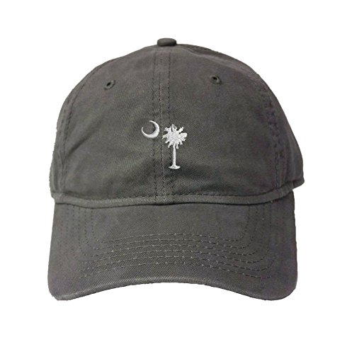 - Adjustable Charcoal Adult South Carolina Flag Embroidered Deluxe Dad Hat